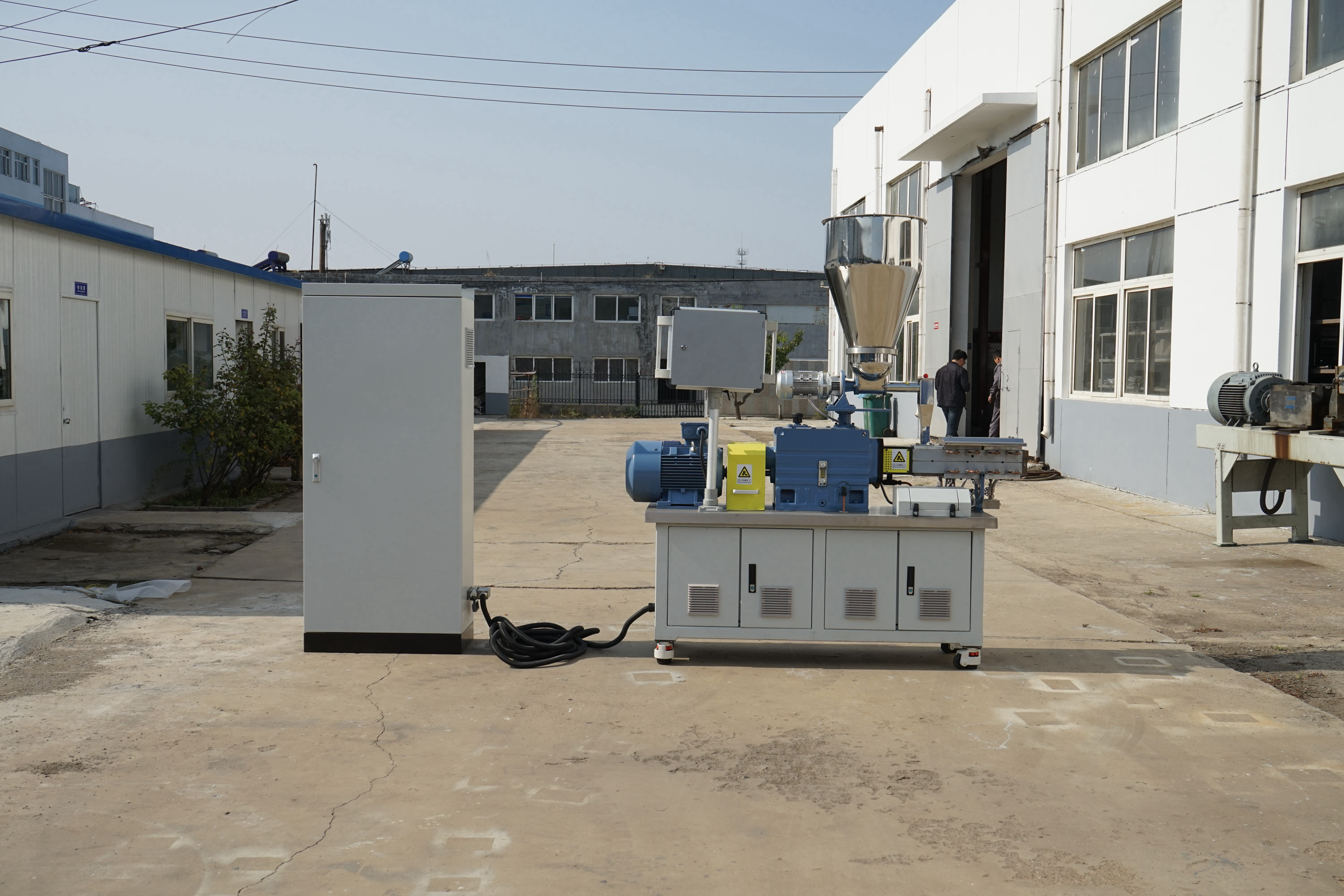 Segmented Liner Compound Food Processing Twin Screw Extruder