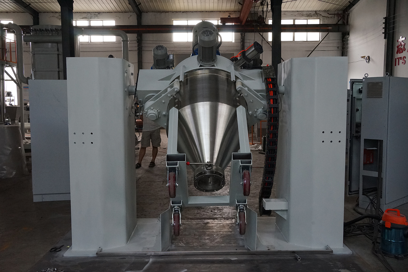 Double Cone Continuous Electrostatic Powder Container Mixer