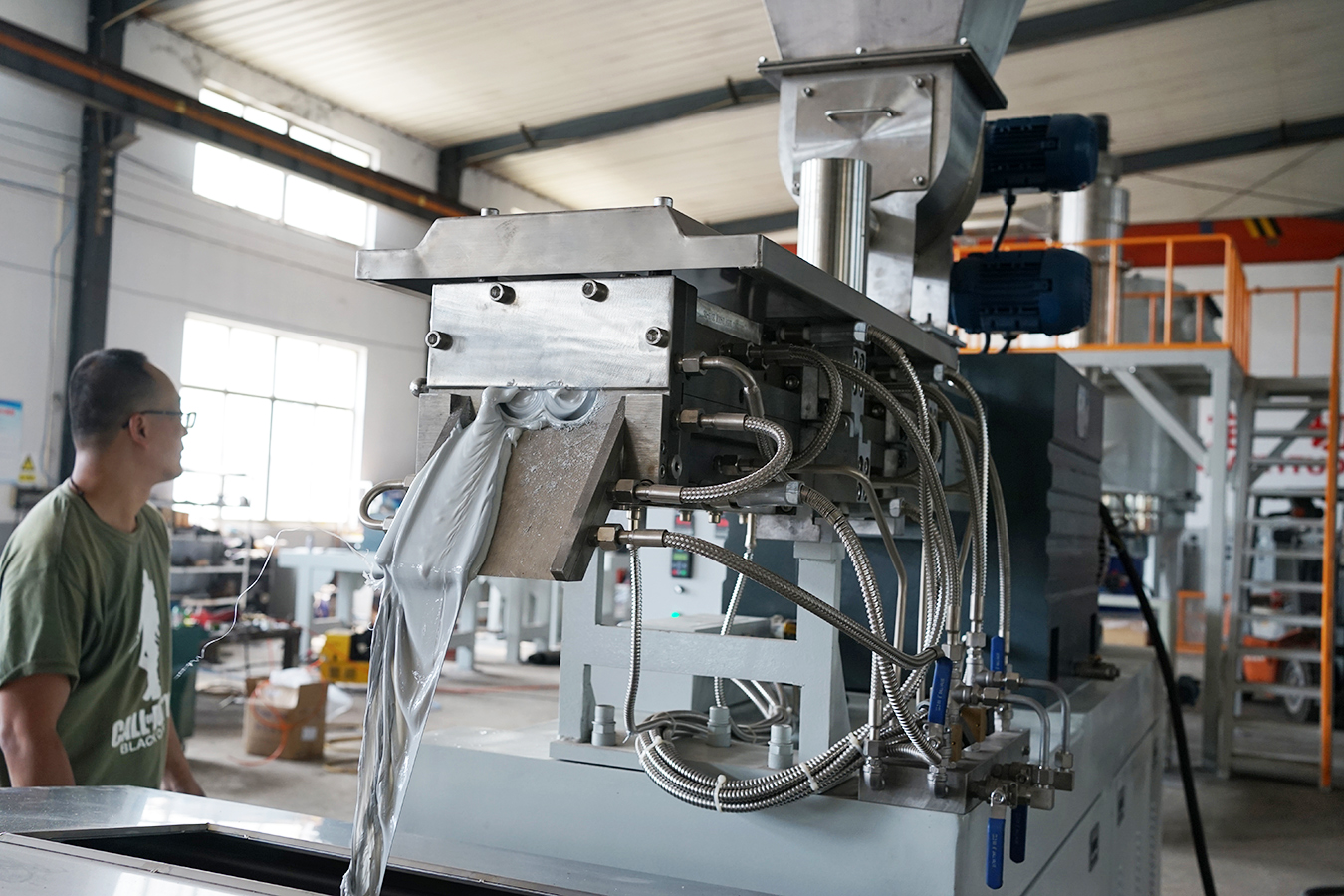 Parallel Compound Food Processing Twin Screw Extruder