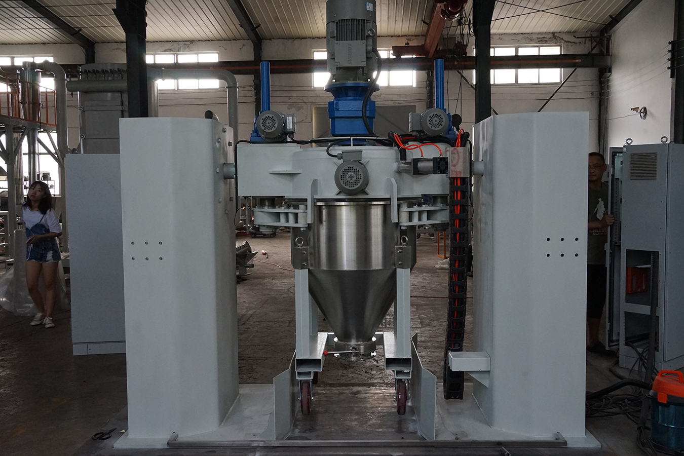 Automatic Pneumatic Electrostatic Powder Container Mixer
